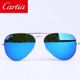 Wholesale carfia mm mirror sunglasses men women sunglasses new arrival brand designer sun glasses metal frame freeshipping