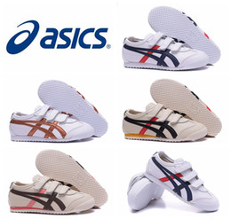 Wholesale 2016 New Style Asics Onitsuka Tiger Running Shoes For Children Comfortable Youth Athletic Outdoor Sport Sneakers Eur