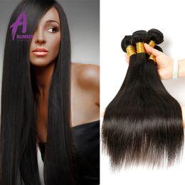"Alimice Product Top Quality Malaysian Straight Hair Mixed 8""to 30"" Malaysian Hair Straight 3Pcs Remy Besr Virgin Human Hair Bundles"