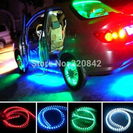 Wholesale Lights For Chassis - 24cm LED light car styling decoration led car light For Car Chassis Wheels Net light high brightness decorative lights