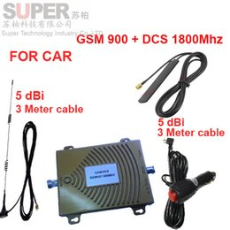 Wholesale For Russia car booster dual band repeater GSM900Mhz DCS Mhz booster for car GSM DCS repeater vehicle use signal booster