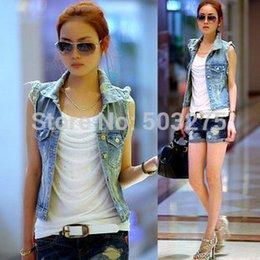 Wholesale July Life Art New Arrival design vests denim Coats Jackets cowboy plus size apparel retail Code
