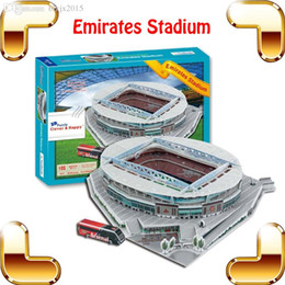 Wholesale Big Fans Gift Z B159 Arsenal Emirates Stadium D Puzzle Model Construction Puzzle Football Pitch Soccer DIY Toys Best Collection