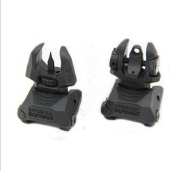 New FAB Defense FBS+RBS - Rear and Front Dual Aperture Back-Up Sights Set Black