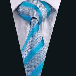 Classic Stripe Neck Ties for Men Jacquard Woven Mens Tie 8.5cm Width Formal Work Meeting Wedding D-0568