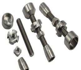 2015 14mm & 18mm adjustable titanium nail , GR2 titanium nail 2 in 1 TITANIUM NAIL Titanium Domeless Nails Wax Oil NEW for vapor