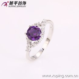 Wholesale Hot Sell Women Imitation Rhodium Plated Ring New Arrvial Copper Jewelry Ring Plated With Colourful Cublic ZIrconia