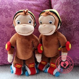 Wholesale Curious George Monkey PP Cotton Stuffed Plush Toys For Kids Cute Animal Doll For Children Birthday Gift Festival Present