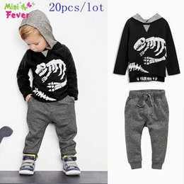 Wholesale SamgamiBaby Brand Cotton long sleeve Jurassic Park dinosaurs hood coat pants outfits for baby boys Spring Autumn