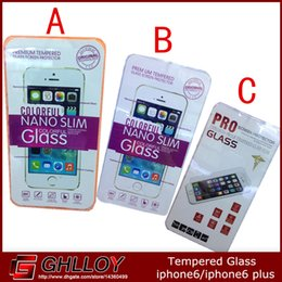 Iphone6 6plus Tempered Glass Film Screen Protector 0.26mm 2.5Darc edg with