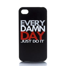 Wholesale Just Do It Black Side Design Hard Plastic Phone Case Cover For IPhone 4 4S 5 5S 5C 6