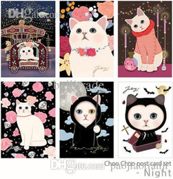Wholesale Korean stationery Jetoy Choo Choo Cat Postcard set Cartoon birthday greeting card gift card cm