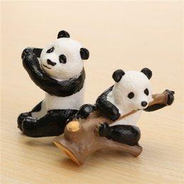 Wholesale 1Pcs David Panda Moss Micro Landscape Tree Ornaments DIY Assembling Small Toys Pot Bonsai Decoration