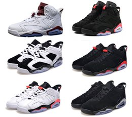 Classic 6 6s UNC black infrared blue basketball shoes sneakers men women high low white golf GS size 5.5-13 High Quality Version