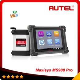 Wholesale 100 Original AUTEL MaxiSYS Pro MS908P AUTEL MaxiDas Maxisys pro DS708 Diagnostic System with WiFi DS708 As Gift DHL free