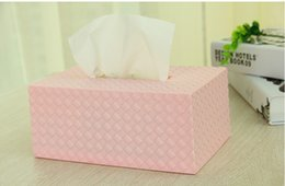 Wholesale The paper towel box Simple And Elegant Environmental Protection Light Pink