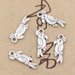 Wholesale 200pcs Charms parrot bird mm Antique Zinc alloy pendant fit Vintage Tibetan Silver DIY for bracelet necklace