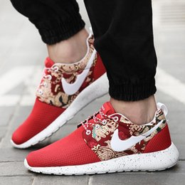 Wholesale 2016 spring and summer men s canvas sneakers mesh printing stitching casual shoes fashion shoes tide running fitness