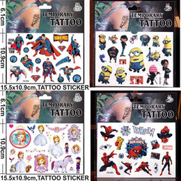 Wholesale Despicable Me Minions Stickers Cartoon Big Hero Baymax Temporary Tattoos Sticker cmx10 cm Body Art Tattoo Kits For Children Kids