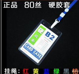 Wholesale working permit employee s card multi color Vertical horizontal type Neck Strap lanyard sling ID Badge Holders PVC name card case certific