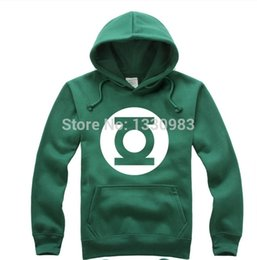 Wholesale Fall Animation Green Lantern Super hero Classic movie Animate Long Sleeve Hooded Jacket Hoody