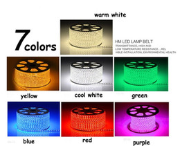 Wholesale 20M high voltage V Waterproof SMD Flexible LED strip rope stripe tape Light leds m warm white RGB Power plug