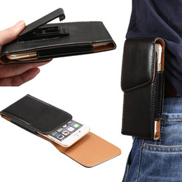 Wholesale 3 To inch PU Leather Rotatable Belt Clip Holster Waist Bag Phone Case For For Samsung Galaxy S4 S5 S6 Edge Plus Note Mega A3 A