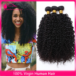 New 3Pcs Kinky Curly Virgin Human Hair Weaves Brazilian Hair Bundles Afro Kinky Curly Hair Extensions For Black Woman Cheap Price
