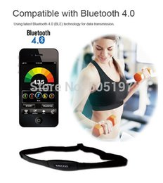 Wholesale-Sports wristwatch free chest strap BLE bluetooth heart rate monitor for iPhone 5s with 60beat fitness app