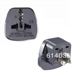 Wholesale SS Travel Adaptor Plug Converter in Black CE Marked Taiwan Japan U S A Canada Philippines China Thailand