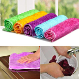 Wholesale 10pcs Fiber Cleaning cloths Dishcloths Rags Washing cloths Cleaning towel F201100