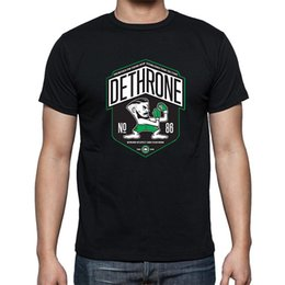 Wholesale New Summer Dethrone Conor McGregor Dublin Walk Out T Shirt Men Short sleeve Printed Hip Hop T shirt Tshirt camisa