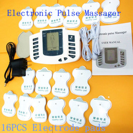 Wholesale JR309 Electrical Stimulator Relax Muscle Therapy Massager Electro Pulse Replaceable Pads TENS Acupuncture Massager Fetish