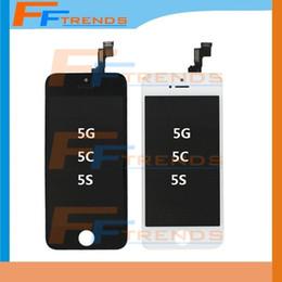 Part entière à vendre-Noir blanc affichage LCD écran tactile numériseur assemblage complet pour iPhone 5S 5C 5 pièces de rechange de remplacement 5G livraison gratuite