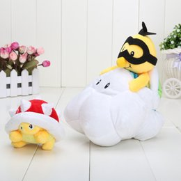Wholesale 10pcs quot CM Super Mario Bros Lakitu Spiny Plush Toy Mario Figure Toy made in China in stock