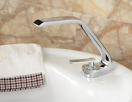 Special Chrome Brass Bathroom Basin Faucet Waterfall Vessel Sink Mixer Single Handle