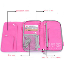 Wholesale Polyester Travel Wallet Passport Airline Ticket Case Zippered Checkbook Ticket Case