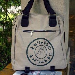 Wholesale Special Edition Japan Hayao Miyazaki s animation Totoro outdoor shoulder Messenger bag canvas bag birthday gift