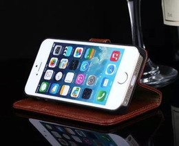 Simple Clip For Iphone 4 4S Case Flip Cover Stand Wallet Luxury Original Colorful Noble Genuine Leather Case for Apple Iphone 4 4S