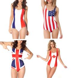 Wholesale Fashion Swimming Suit Canada UK French US AU EU Italy Brazil Flags Swimwear United Kingdom Flags Australia Flags United Stated Flags