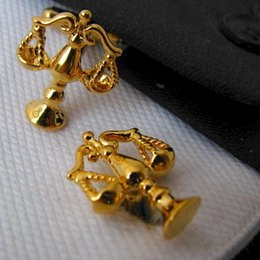 Wholesale Libra Scales Of Justice Gold Cufflinks Button Shirt Mens Shirt Studs Gift Lawyer cf388