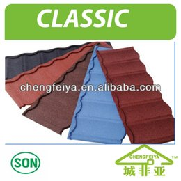 Wholesale 2016 new building material stone coated metal roofing tile popular sale