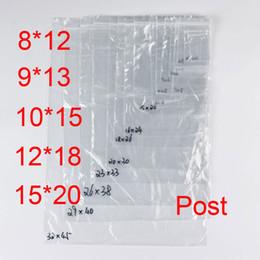 Pequeñas bolsas de plástico adhesivo transparente en venta-PE Bolsas de plástico transparente Zip cerraduras Ziplock Zipper Poly OPP Autoadhesivo sello embalaje Empaquetado para la venta al por menor Pequeño medio reciclable