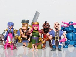 Wholesale Trader Clash of Clans Barbarian King Archer Queen PVC Doll Figure Model Toys CM set