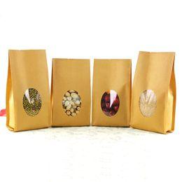 Wholesale 100pcs cm cm cm micron High Quality Kraft Paper Al Foil Oragan Bag Coffee Packaging Bag
