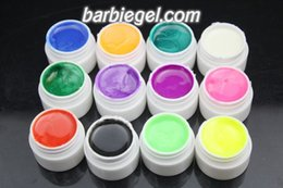 Wholesale new pearlescent nacre color UV Gel colored vu gel For Nail Art uv gel nail polish sets