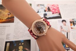 Europe and the United States fashionable women broadband leopard grain diamond watches