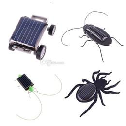 Wholesale Solar Energy Birthday Gifts - Robot Christmas Birthday gift Solar Spider Car Grasshopper Cockroach Education toys for children Energy Powered kids T100 H1759 H1758 H1394