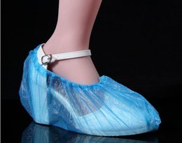 Wholesale 2015 Elastic Disposable Plastic Shoe Resists Water Dirt and Mud Covers Protective Carpet And Floors Pack Of Shoe Covers