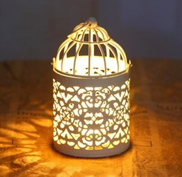 Wholesale Bird Cage Decoration Candle Holders Bird Cage Wedding Candlestick home decoration
